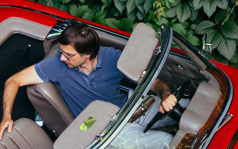 Алексей Прупес иMercedes-Benz W113 «Pagoda»