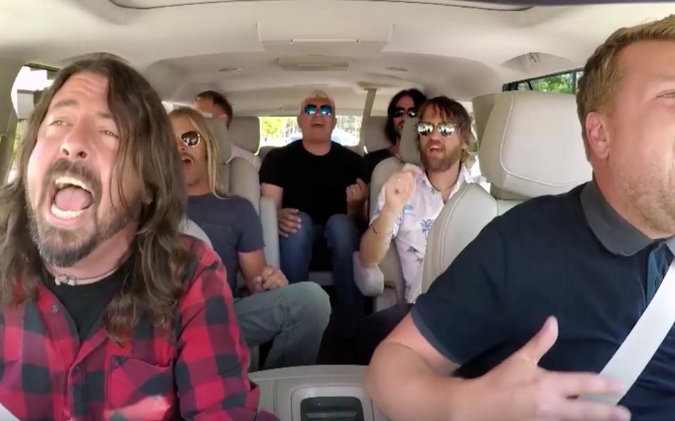 Foo Fighters сходили нашоу Джеймса Кордена. Им неочень понравилось