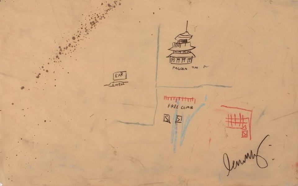 Работу Жан-Мишеля Баския сняли саукциона после критики всоцсетях. Ее хотели перевести вNFT, а оригинал уничтожить
