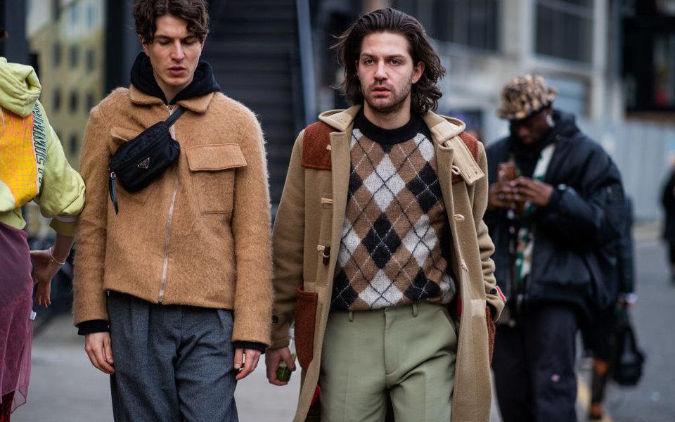 Теплый слой: где купить мужской свитер сузором аргайл иего вариациями