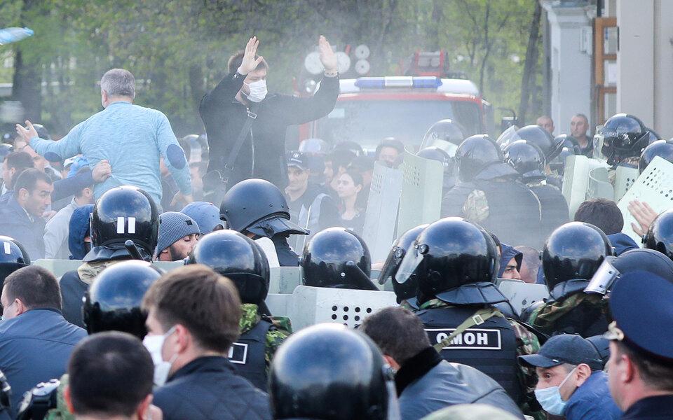 Пятерых участников прошлогоднего митинга во Владикавказе против режима самоизоляции приговорили к срокам до 5,5 года