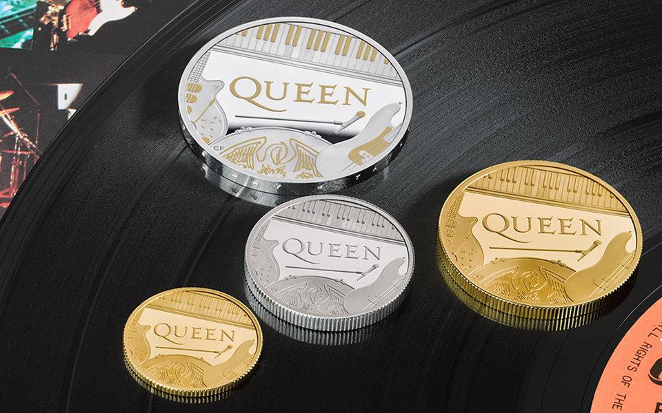 Британский монетный двор выпустил монеты в честь группы Queen