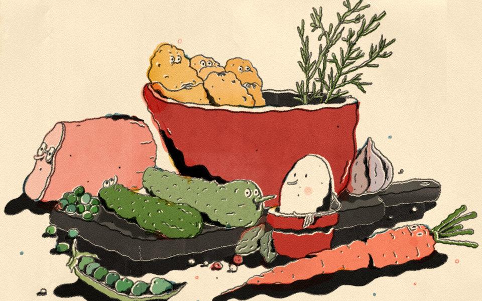 Битва заоливье: как насамом деле надо готовить главный новогодний салат (и почему из-за его рецептов столько споров)