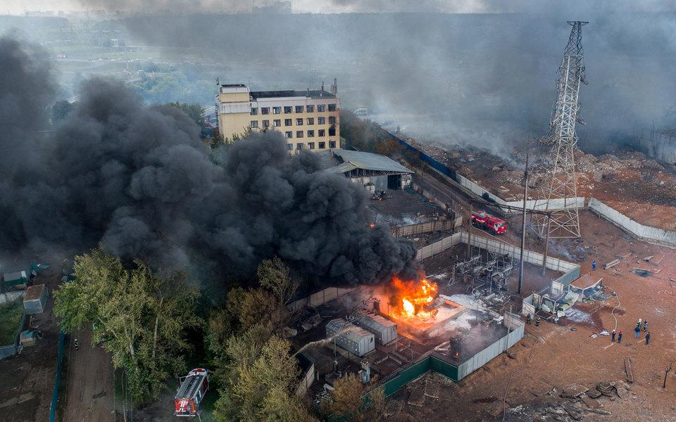 Один человек погиб припожаре наСеверной ТЭЦ вМытищах