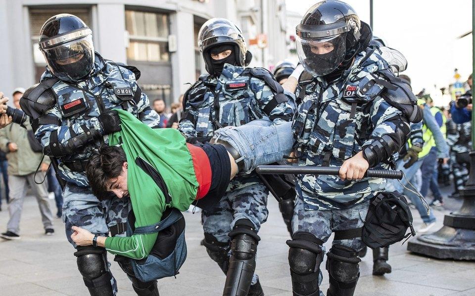 В Москве прошел митинг засвободные выборы. Задержаны сотни человек