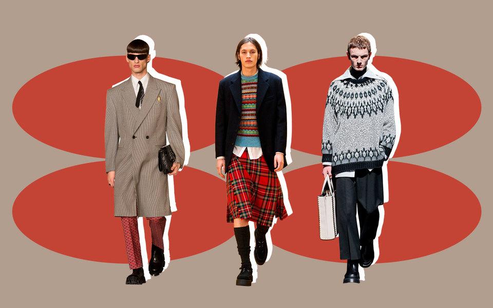 Одежда-коллаж, мужские юбки истритвир Джейдена Смита: лучшие показы недель моды осень-зима 2021