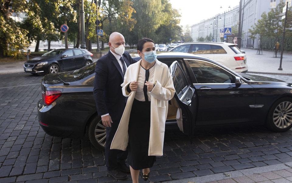 Макрон и Тихановская встретились в Вильнюсе. Они обсудили возможность новых выборов в Беларуси