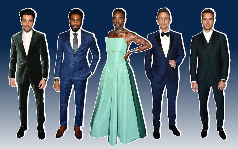 Много бархата иновое платье Билли Портера: лучшие мужские выходы красной дорожки Critics' Choice Awards