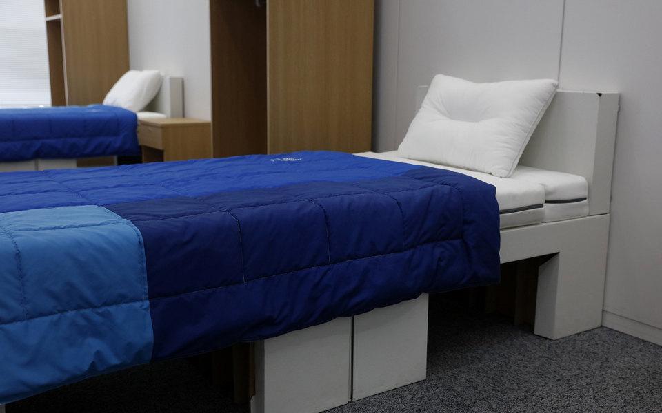 Кровати дляспортсменов Олимпиады вТокио сделают изперерабатываемого картона