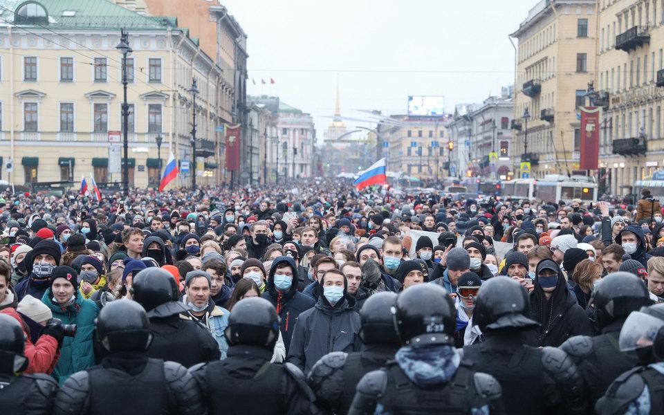 Протесты 23 января: десятки тысяч участников, рекорд позадержанным. Главное