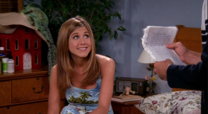 В начале 4 сезона Рейчел написала Россу письмо, которое он должен прочесть передтем, как они снова сойдутся. Сколько внем было страниц?