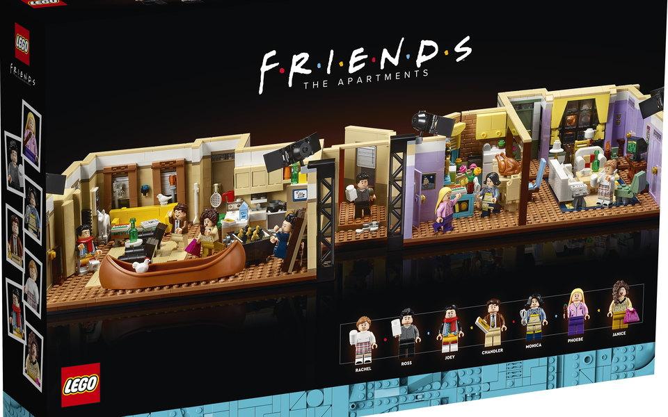 Lego представил набор, созданный по мотивам сериала «Друзья». Он полностью воссоздает квартиры главных героев