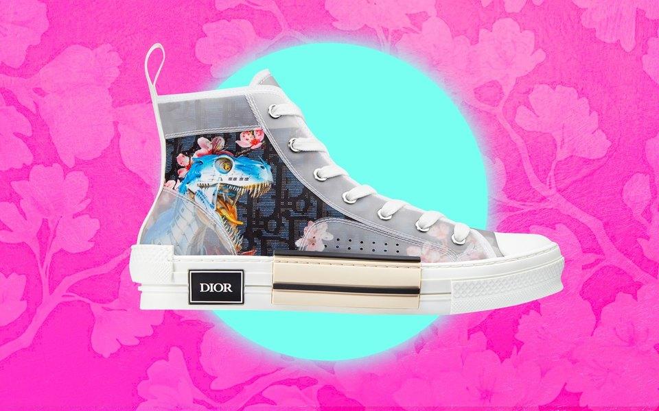 Кроссовки дня: новые кеды Dior как доказательство, что динозавры — это новые котики