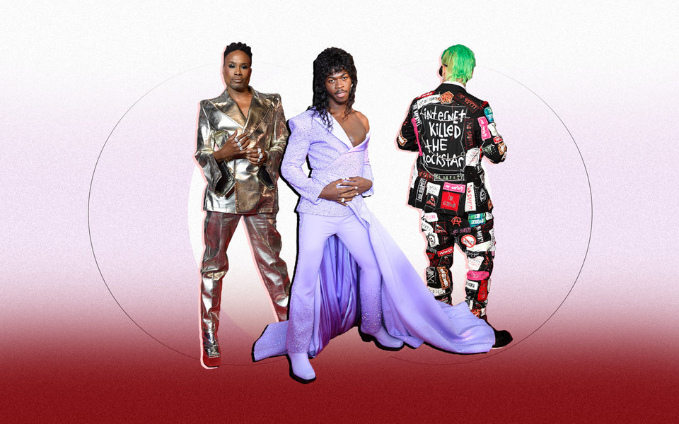 Зеленый, розовый, сиреневый: лучшие мужские наряды накрасной дорожке MTV VMA