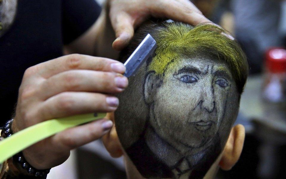 Парикмахер изСирии создает наголовах своих клиентов необычные портреты