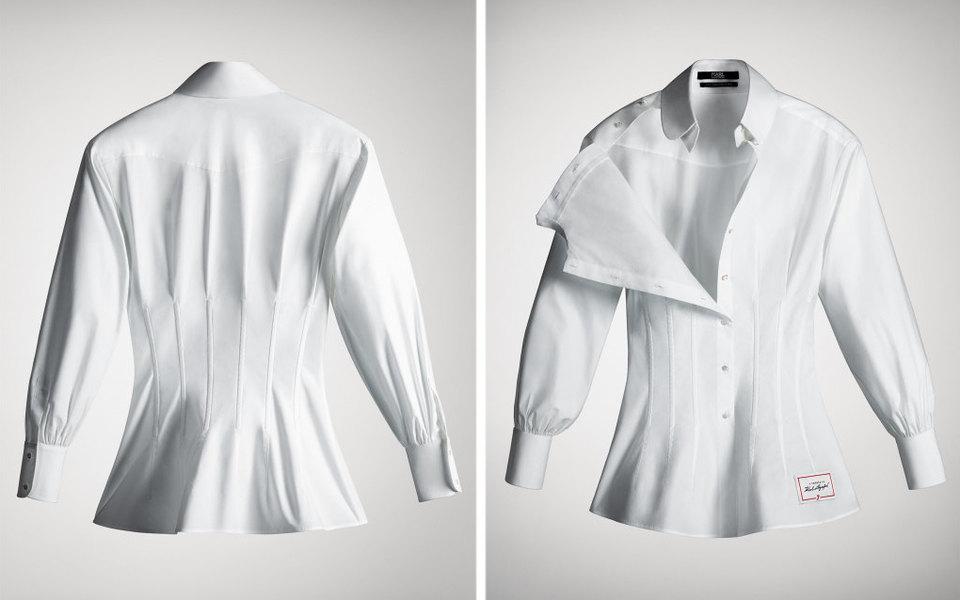 Карин Ройтфельд, Кейт Мосс иТакаси Мураками выпустили коллекцию белых рубашек памяти Карла Лагерфельда