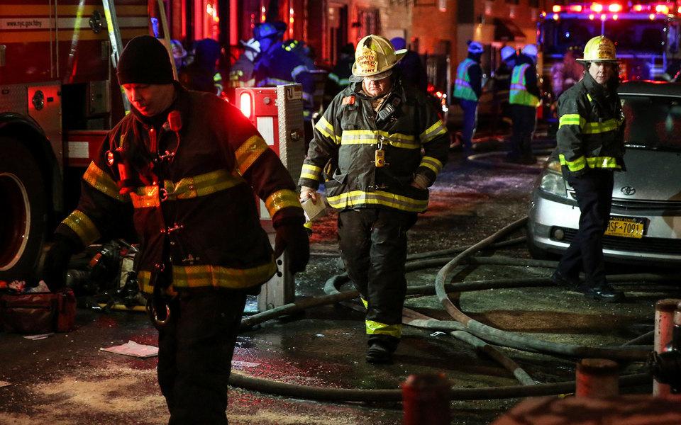 В Нью-Йорке произошел самый страшный пожар за25 лет