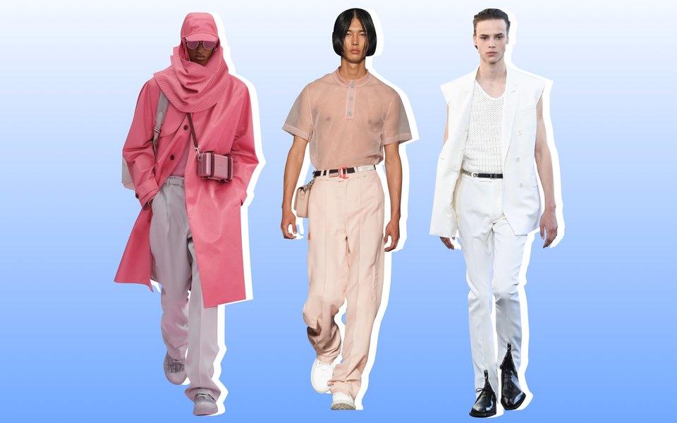 Свободные костюмы, эксперименты стрикотажем ивсе оттенки розового: главные тенденции мужской моды сезона весна-лето 2020