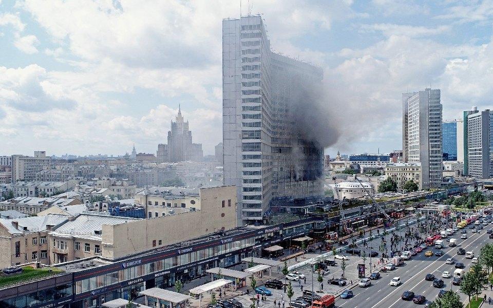 В «доме-книжке» наНовом Арбате произошел пожар