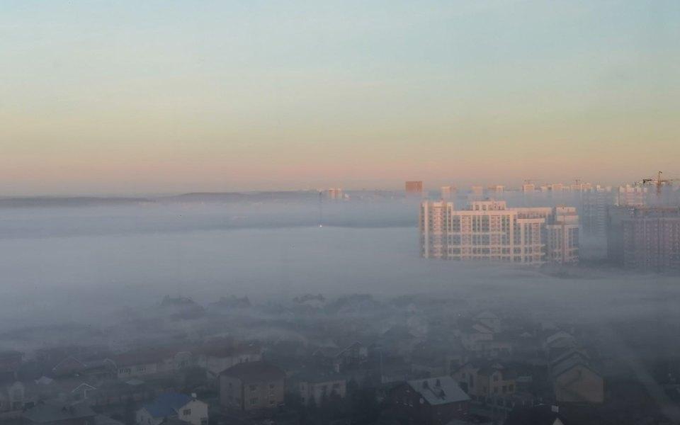 Екатеринбург накрыл смог от тлеющих торфяников