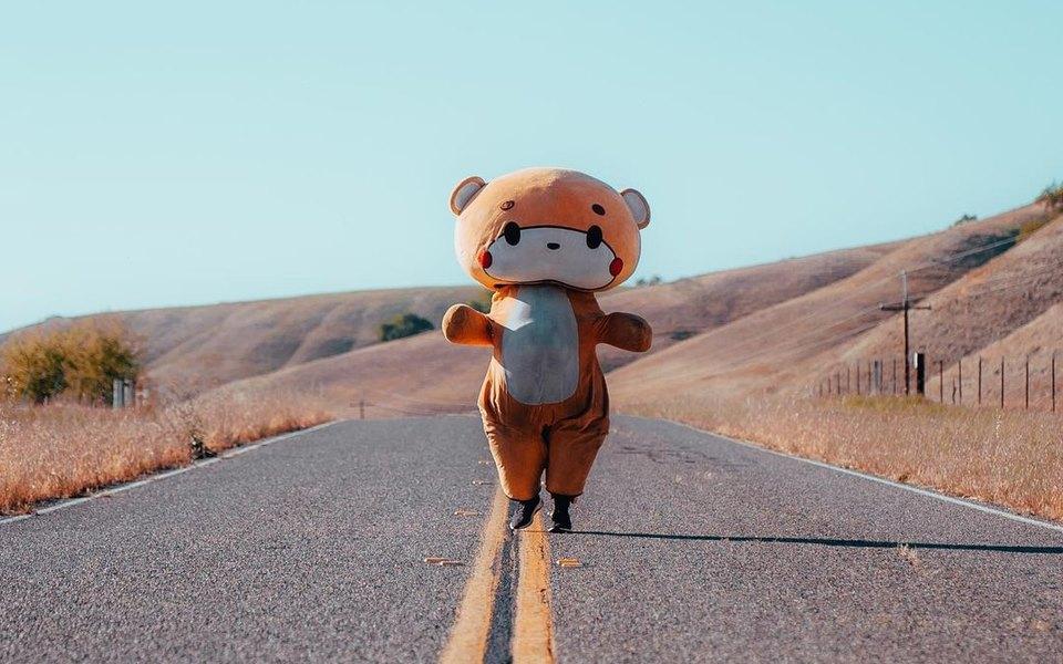 Американец в костюме медведя прошел более 770 километров из Лос-Анджелеса в Сан-Франциско. Он собрал $17 тысяч на благотворительность