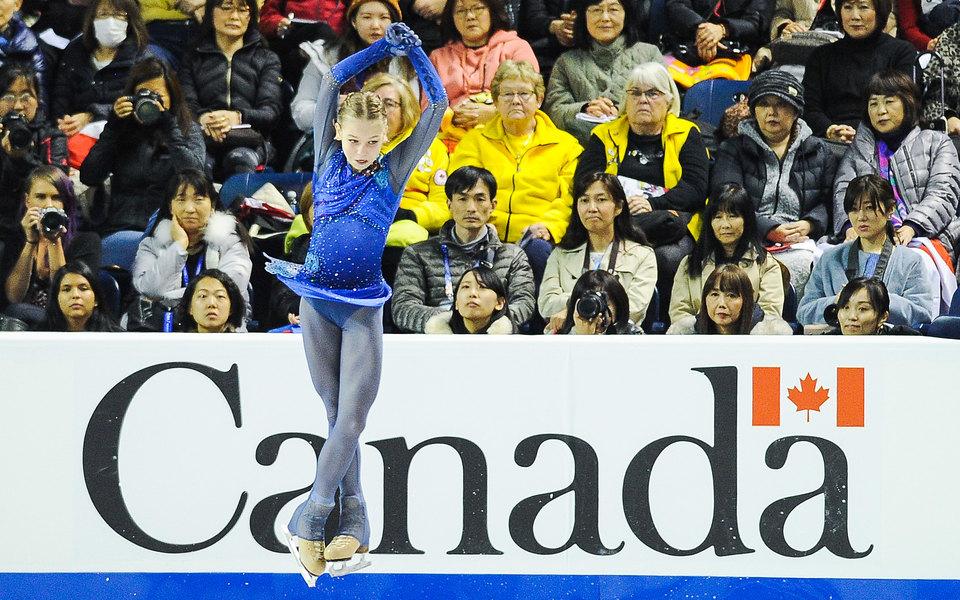 Фигуристка Александра Трусова побила два собственных мировых рекорда наГран-при Skate Canada