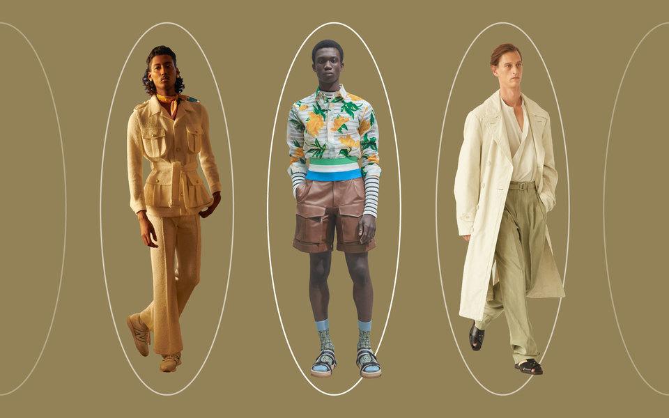 Тропики, сафари-куртки исплошной серый: главные тенденции мужской моды сезона весна-лето 2021