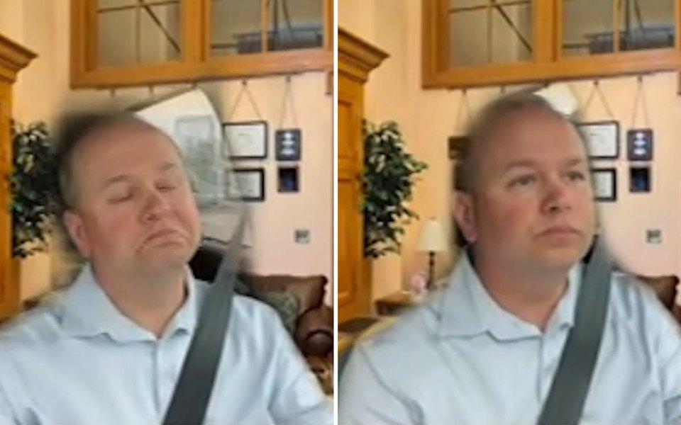 Американский сенатор подключился к видеоконференции, сидя за рулем автомобиля. Он включил виртуальный фон, чтобы казалось, будто он находится дома