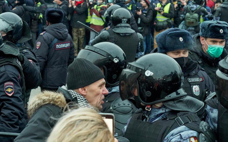 Акция в поддержку Алексея Навального 23 января