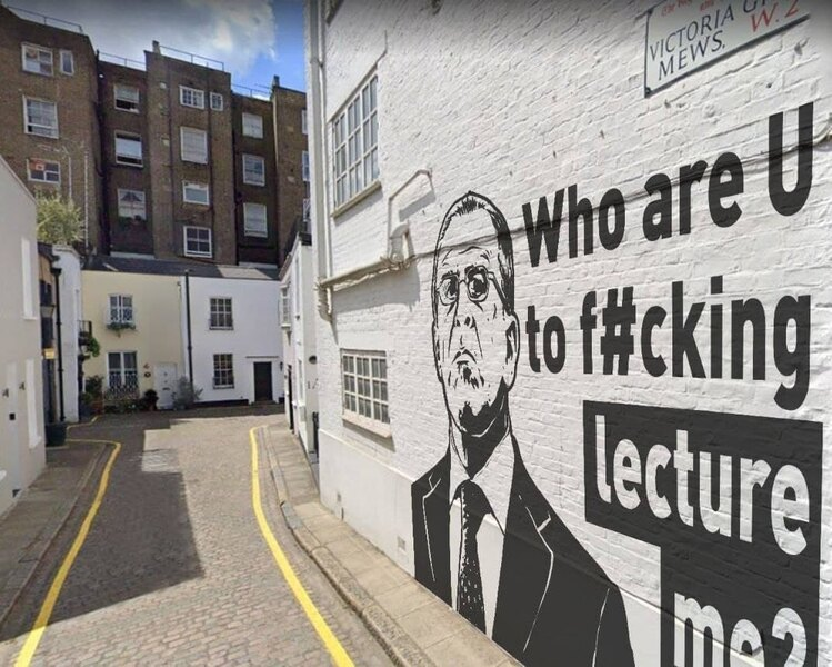 В Лондоне появилось граффити с Лавровым и надписью «Кто ты, б***, такой, чтобы читать мне лекции?»