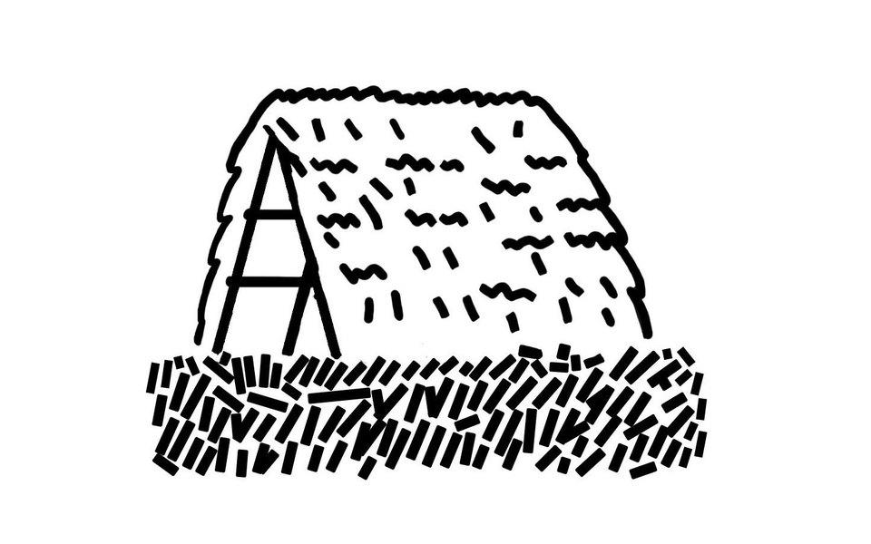 Как построить шалаш как уЛенина