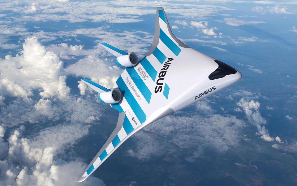 «Самолет из «Звездных войн»: Airbus представил двухметровый прототип лайнера со смешанным крылом