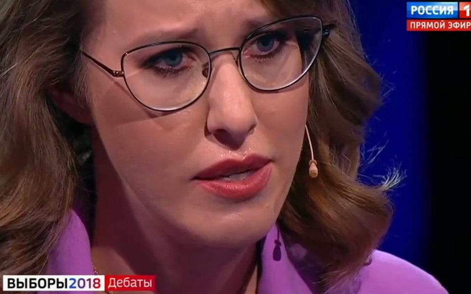 Ксения Собчак ушла сдебатов вслезах. ВЦИК прокомментировали ситуацию