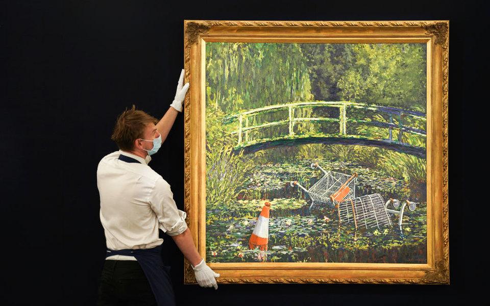 Картину Бэнкси продали за$10 миллионов. Торги заняли 8 минут