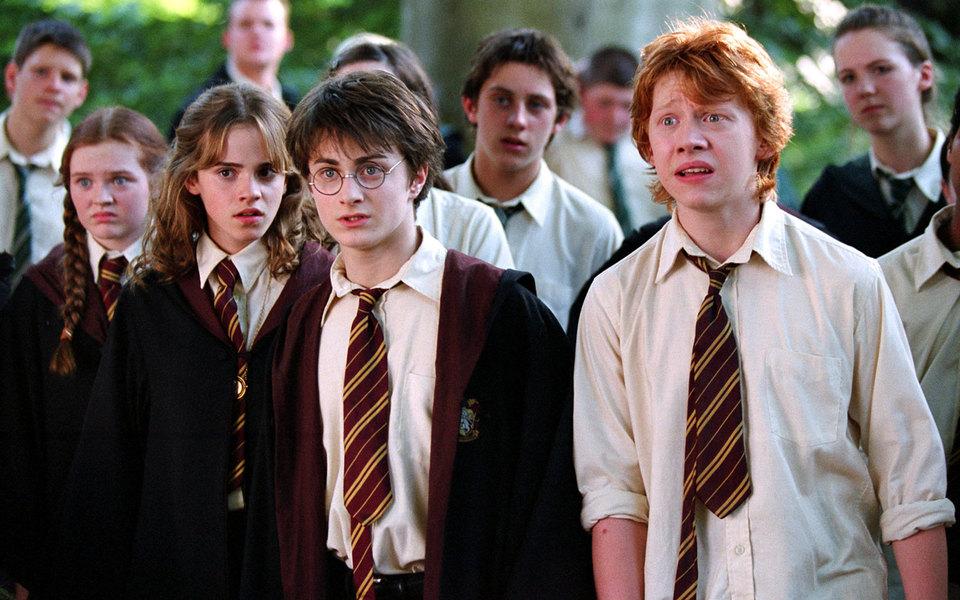 Гарри, Гермиону и Рона в одной из сцен сыграли совсем неизвестные актеры
