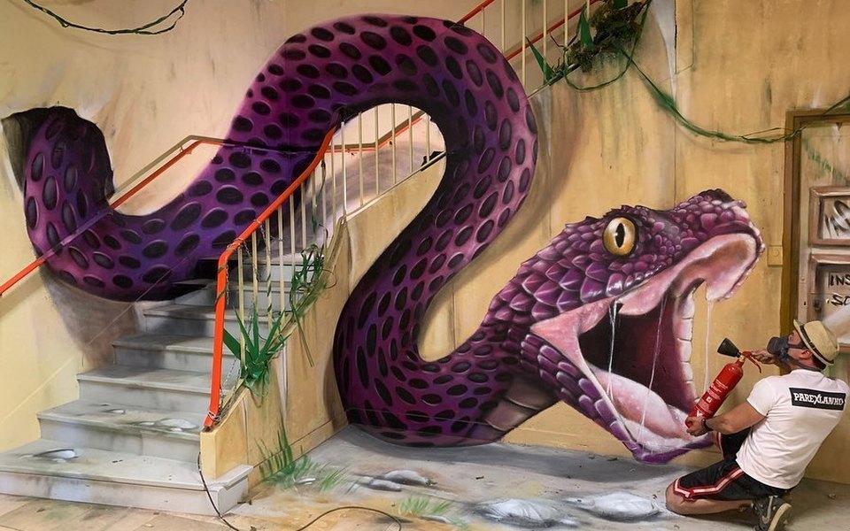 Художник изФранции создает трехмерные граффити. Выглядит невероятно реалистично!