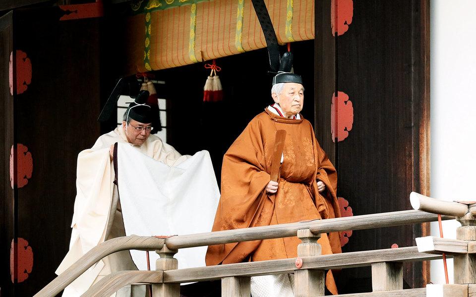 Японский император Акихито отрекся отпрестола. Это первое за200 лет отречение императора встране