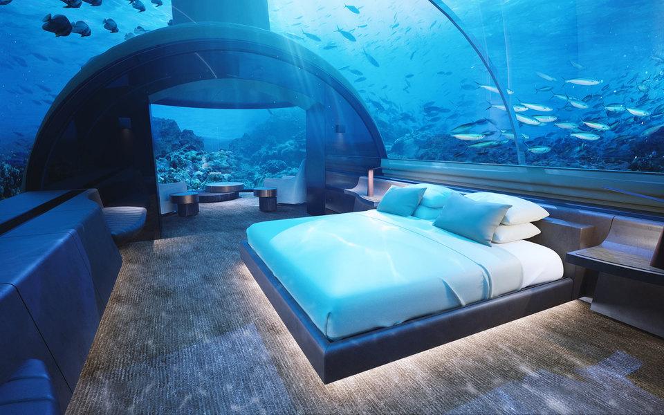 На Мальдивах теперь можно арендовать первую вмире подводную виллу (и это очень дорого)