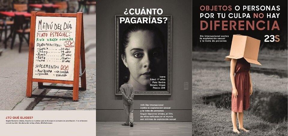В Испании в рамках социальной рекламы о проблеме появились баннеры с упоминанием «русских девственниц»