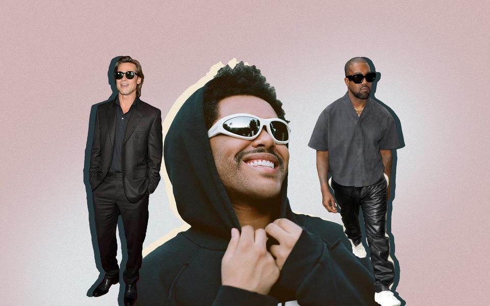 Какие солнцезащитные очки носят Брэд Питт, Канье Уэст иThe Weeknd — вдохновляемся ивыбираем актуальные модели