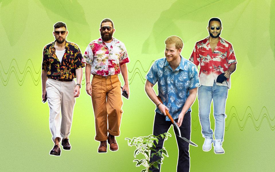 Гавайская рубашка — идеальная замена или дополнение кфутболке. Вот как ее носить этим летом игде купить