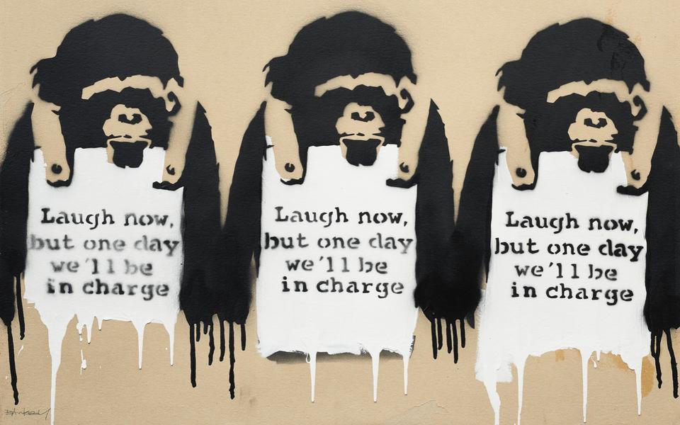 Картину Бэнкси с изображением трех обезьян продали за $2 миллиона